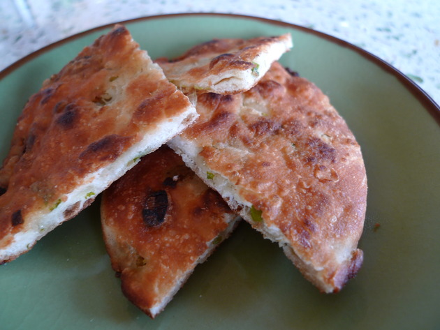 green onion (scallion) pancakes by joanie
