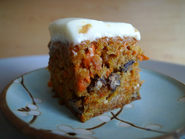 carrot cake with maple cream cheese icing by joanie