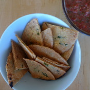 corn tortilla chips with cilantro by joanie