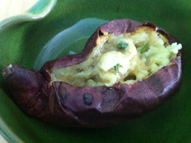 Roasted Japanese Sweet Potatoes with Scallion Butter by belinda