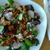 baby greens salad with cajun stir-fried chicken by joanie