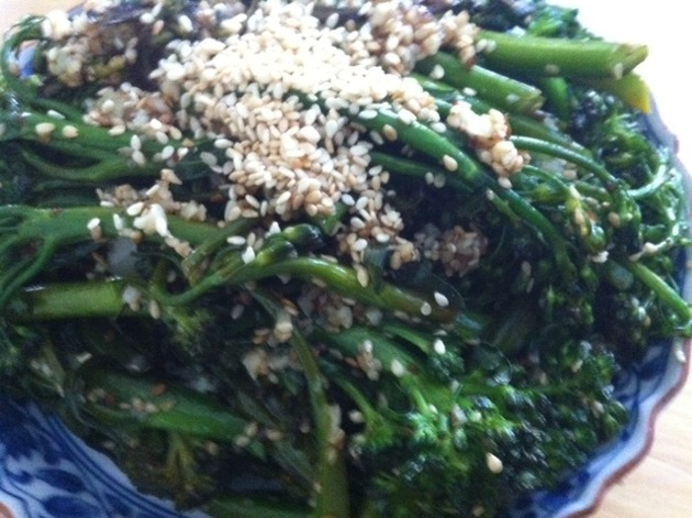 Broccolini with Spicy Sesame Vinaigrette by belinda