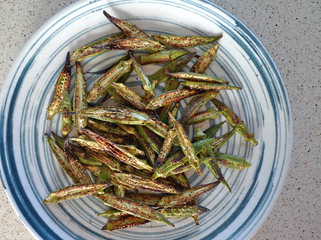 roasted okra by joanie