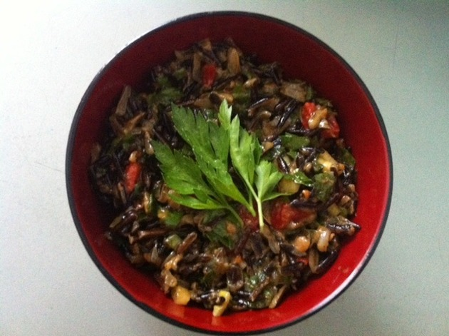 Roasted Red Peppers With Wild Rice & Anchovies by belinda