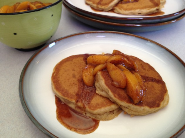 Peach Buttermilk Pancakes by car2ngrl