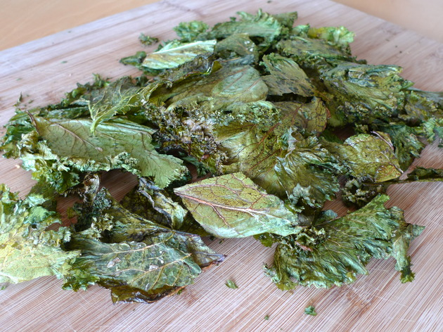 mustard greens chips by joanie