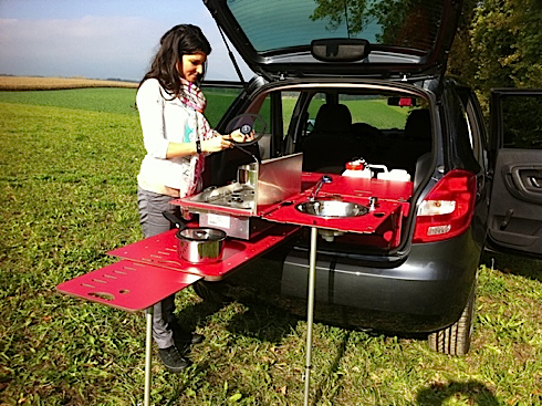 We Have Not Tried This Set Up So Can Vouch Whether It Is A Cool Tool New Modular Household That Unfolds From The Back Of Suv Rover