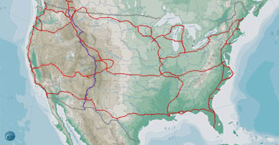 Adventure Cycling Cool Tools - Us bike route map