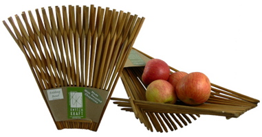 Recycled Chopstick Folding Baskets