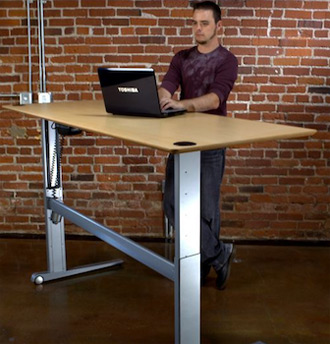 adjustable standing desk office. Height Adjustable Desk Standing Office A