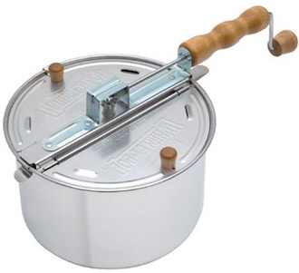 Cool Tools Stainless Steel Stove Top Popcorn Popper And