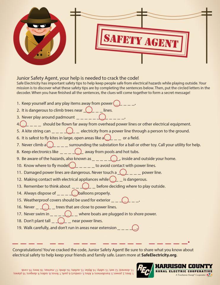 Secret Safety Agent Decoding Activity