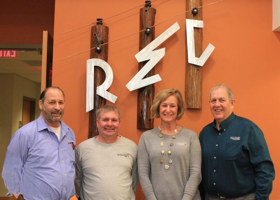 HCREC Management Staff Left to Right Dave Stevens, Tim Plumb, Lori Barry, and Joe Farley