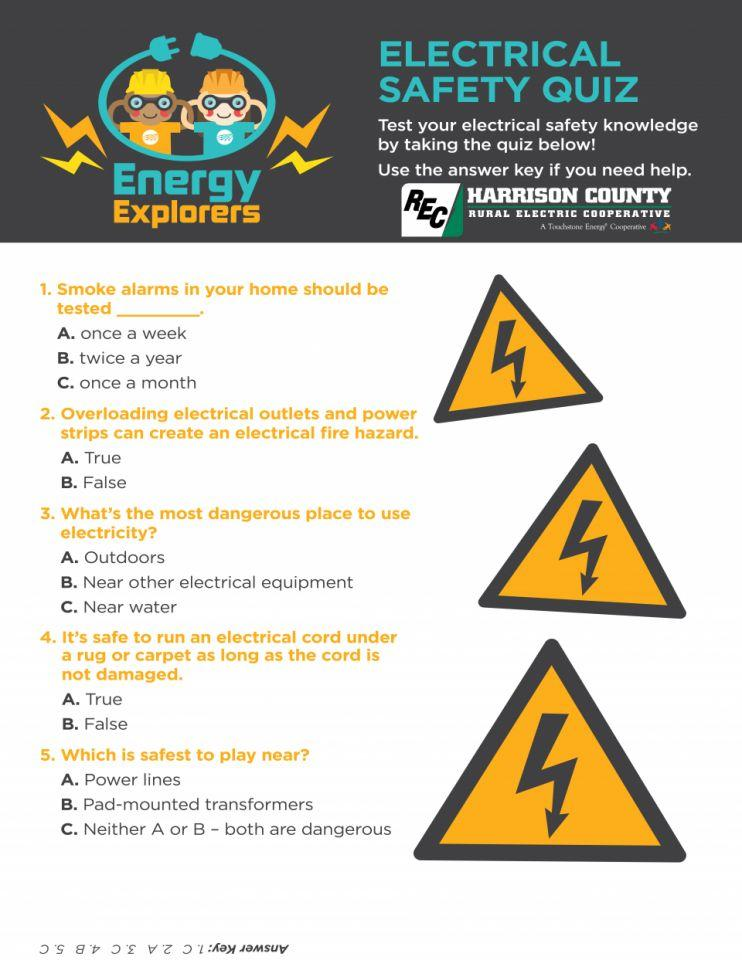 Energy Explorers Electrical Safety Quiz