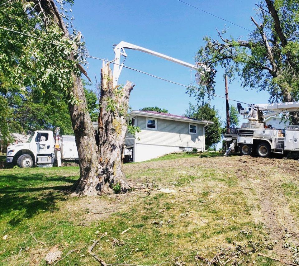 Damage caused by the Iowa Derecho in Marshalltown.