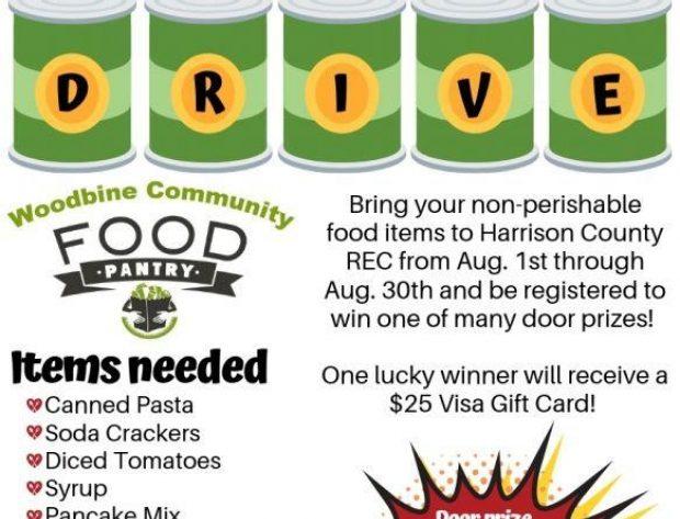 HCREC Summer Food Drive for Woodbine Community Food Pantry!