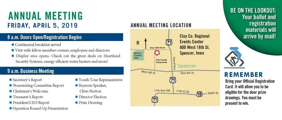 Annual meeting details