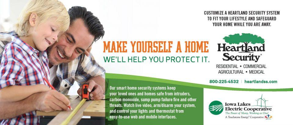 Customize a Heartland Security System to fit your lifestyle and safeguard your home while you are away.
