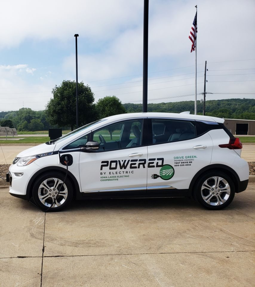 White Chevy Bolt