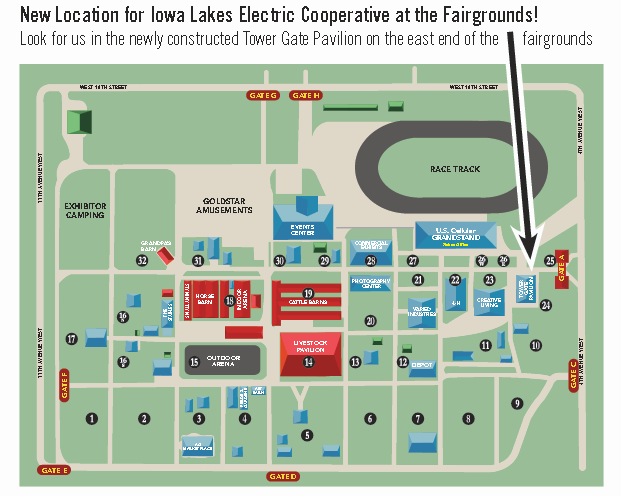 Clay County Fairgrounds Map