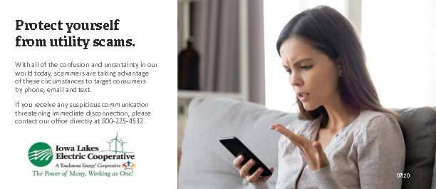 Protect yourself from utility scams. Call 800-225-4532 if you receive any suspicious communication threatening immediate disconnection.