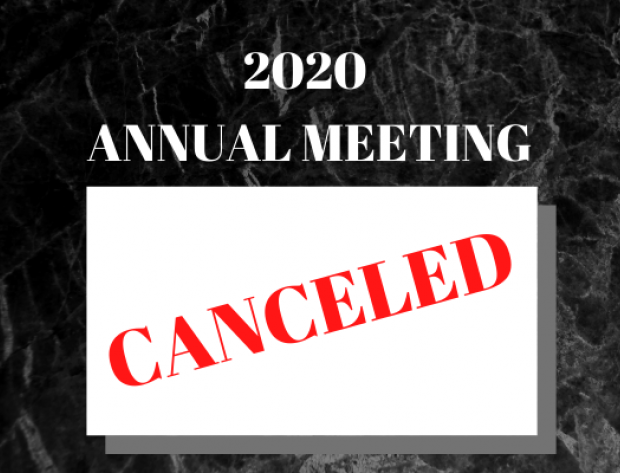 April 4, 2020 In-Person Annual Meeting Canceled