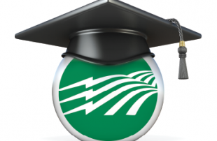 Green Electric Ball with Graduation Hat on Top