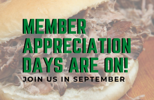 Member Appreciation Days Are On! Join Us In September