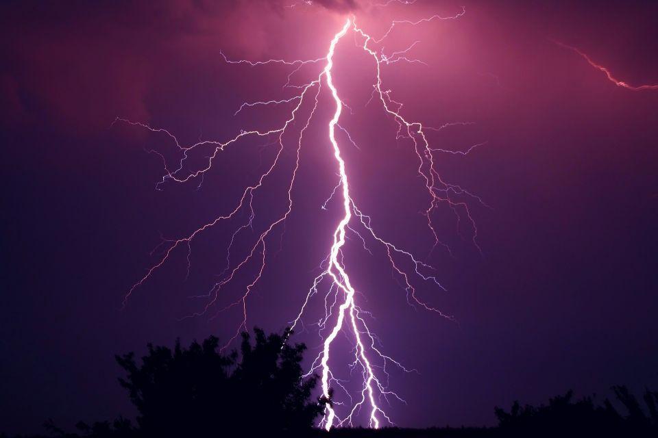 Lightning from sky