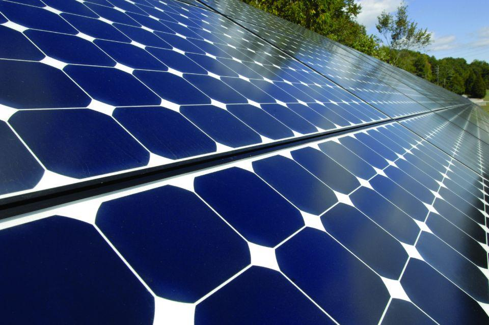 Image of photovoltaic solar panels.