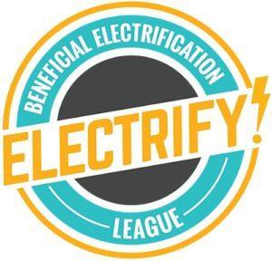 Beneficial Electrification League's Electrify Iowa! logo