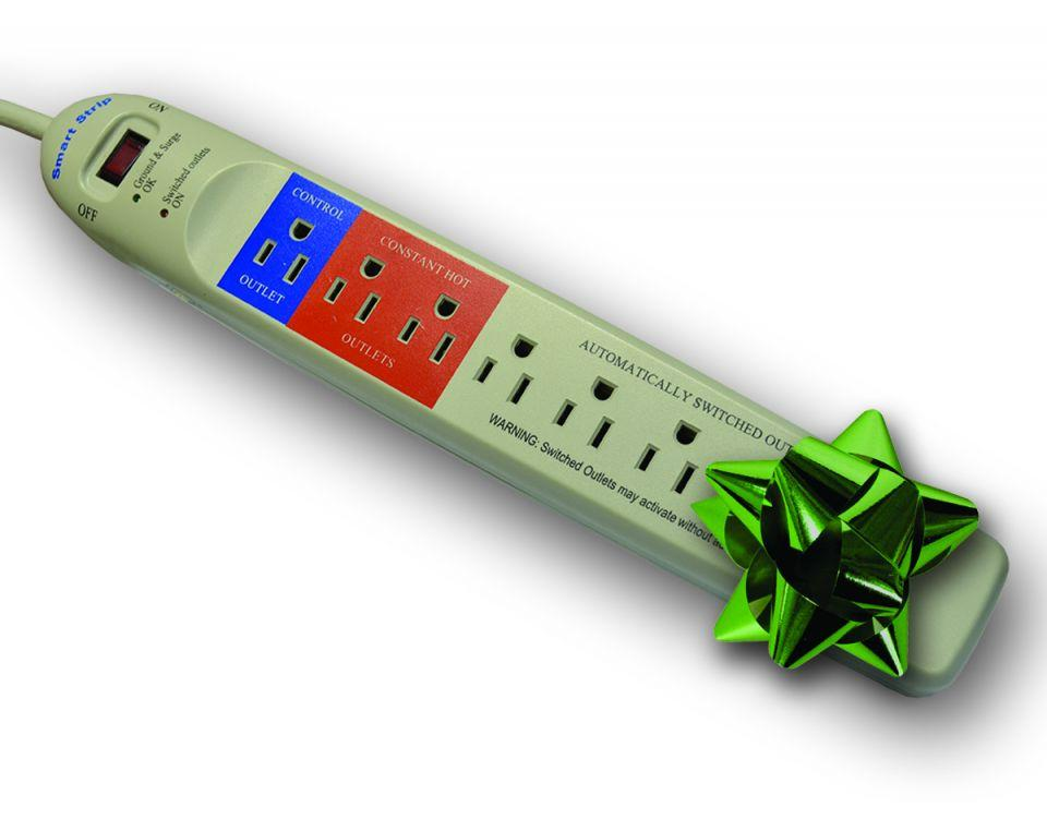 smart outlet strip with bow