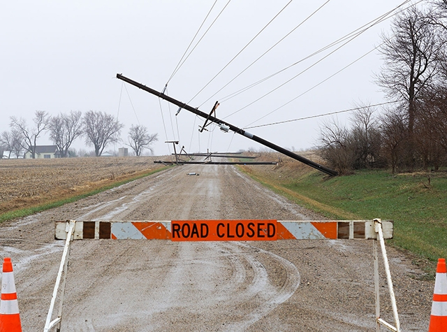 stay safe and avoid any downed power lines
