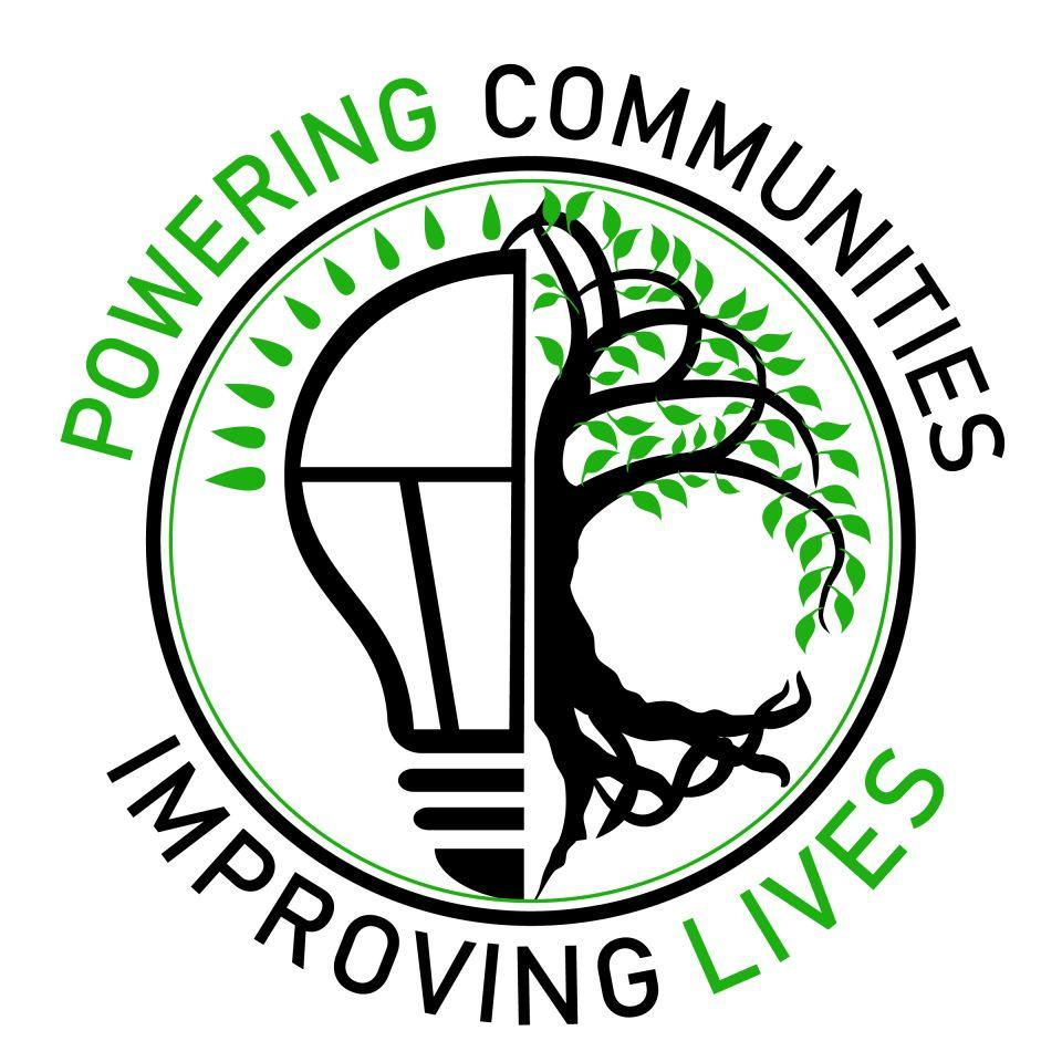 Powering Communities, Improving Lives logo graphic