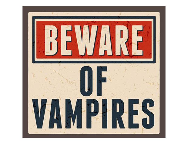 "image of sig that says ""Beware of Vampires"""