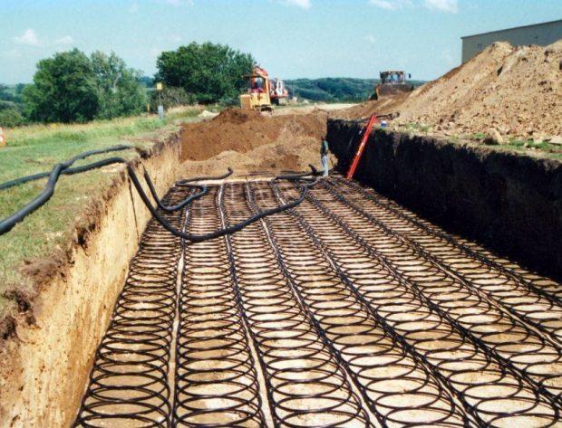 Loop field for geothermal