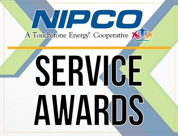"Graphic image of a certificate that has the words, ""Service Awards"" on it"