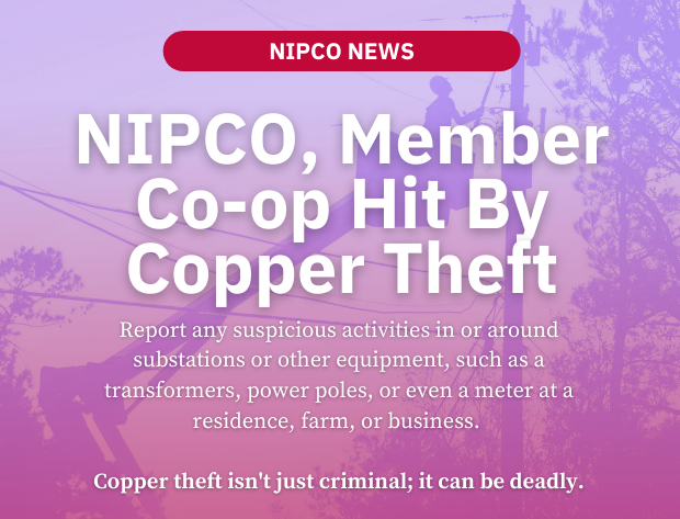 NIPCO and Member Co-op Victims of Copper Theft
