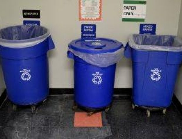 blue recycling tubs