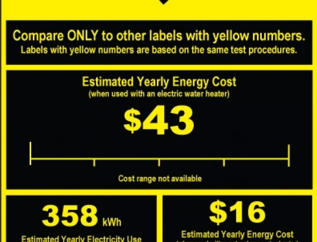 Yellow EnergyGuide