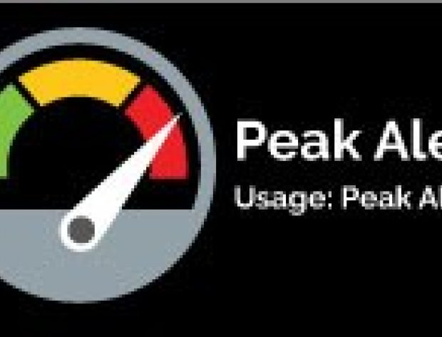 graphic illustration of a peak alert meter indicating the peak is at high alert