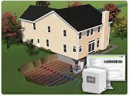 Graphic illustration of geothermal heating and cooling system