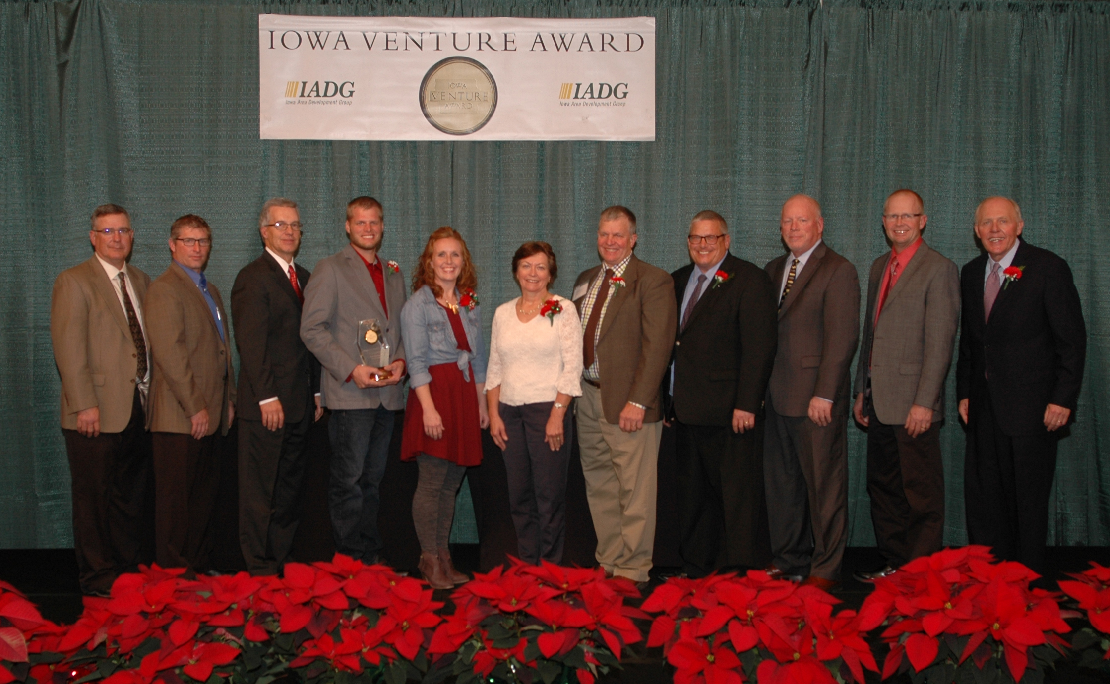 Photo above showcases employees from Maassen Dairy Farms, staff of North West REC, and representatives from Iowa Area Development Group (IADG).