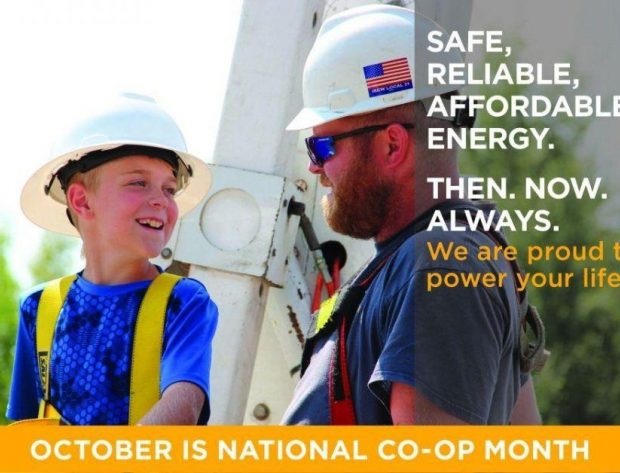 Line worker chats with a young co-op member