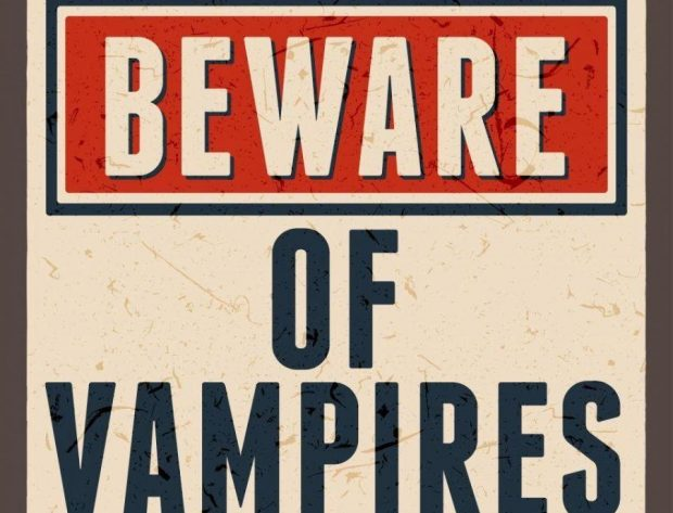 "image of sig that says ""Beware of Vampires"""