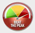 Beat the peak meter in the red zone.