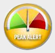 beat the peak meter in the yellow zone.