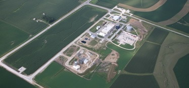 areial view of a galva, iowa industrial park