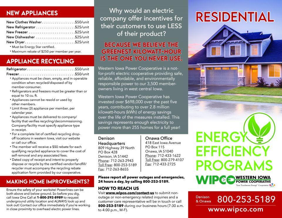 residential rebates page 1