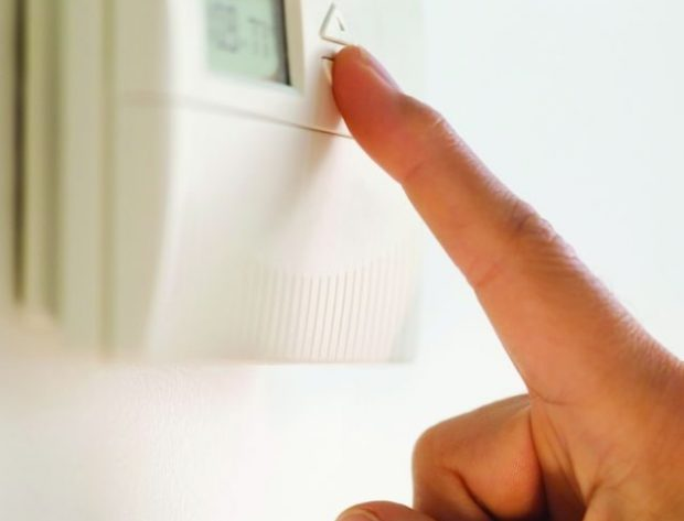 Adjusting a thermostat